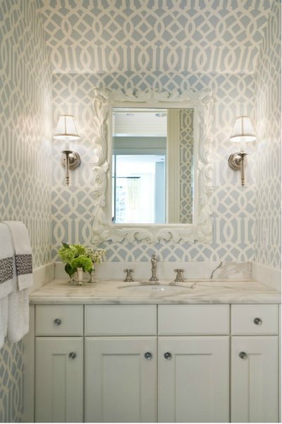 Why the half bath powder room is a design darling Pretty powder room ideas