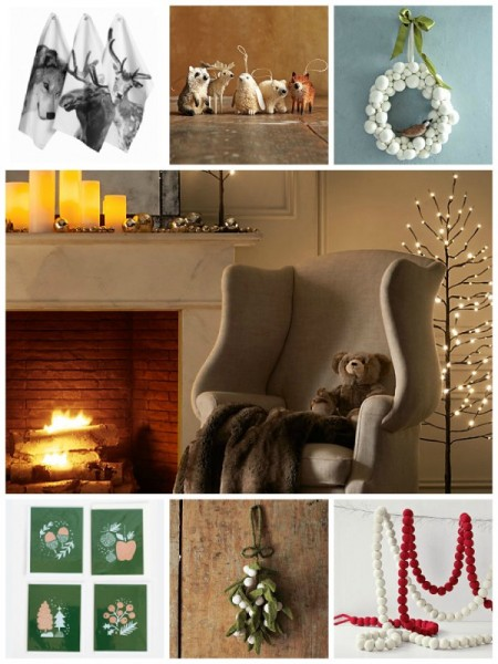natural materials makes a cosy, warm decor for Christmas