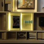detail of styled bookshelf by Sofie B Design