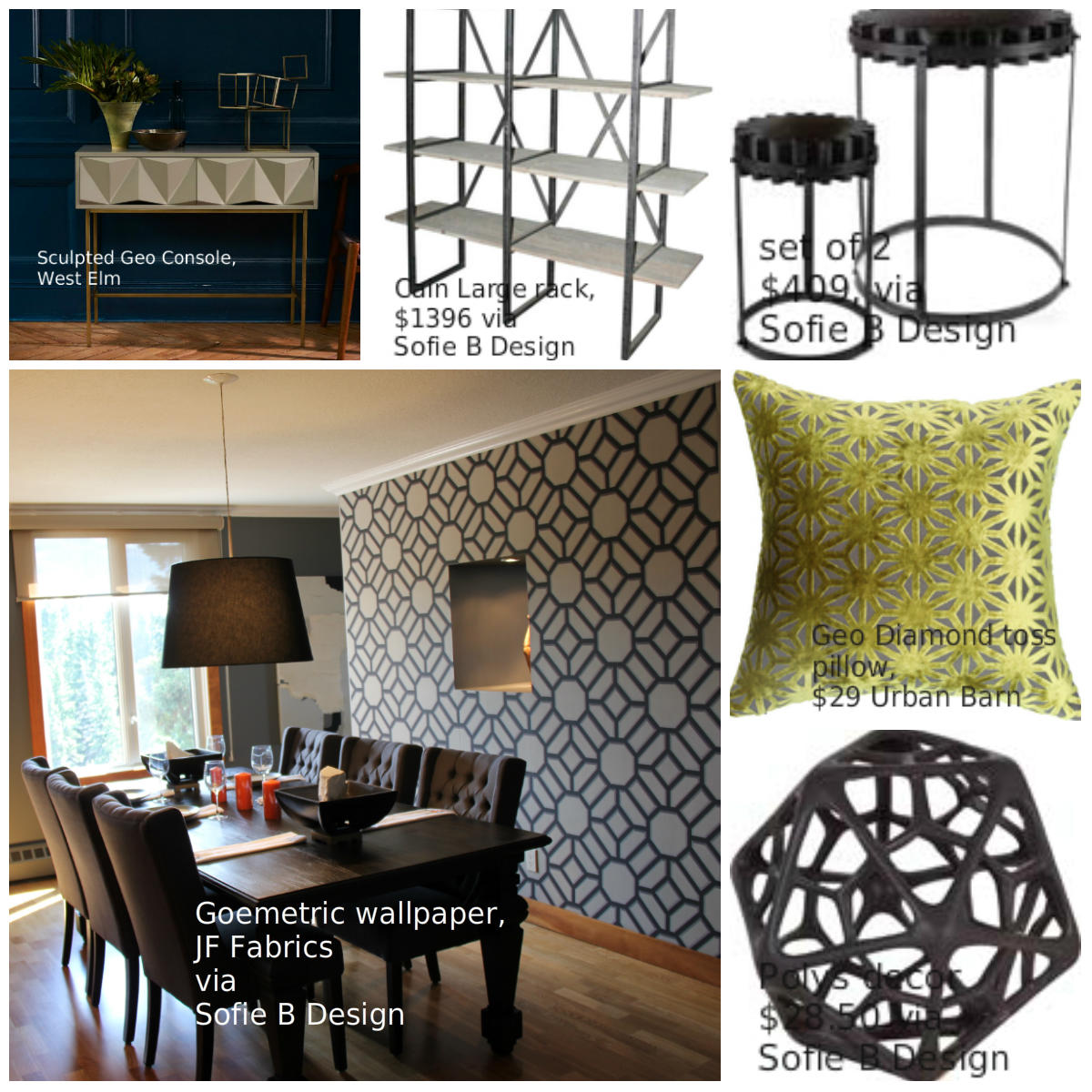 Geometric design pieces