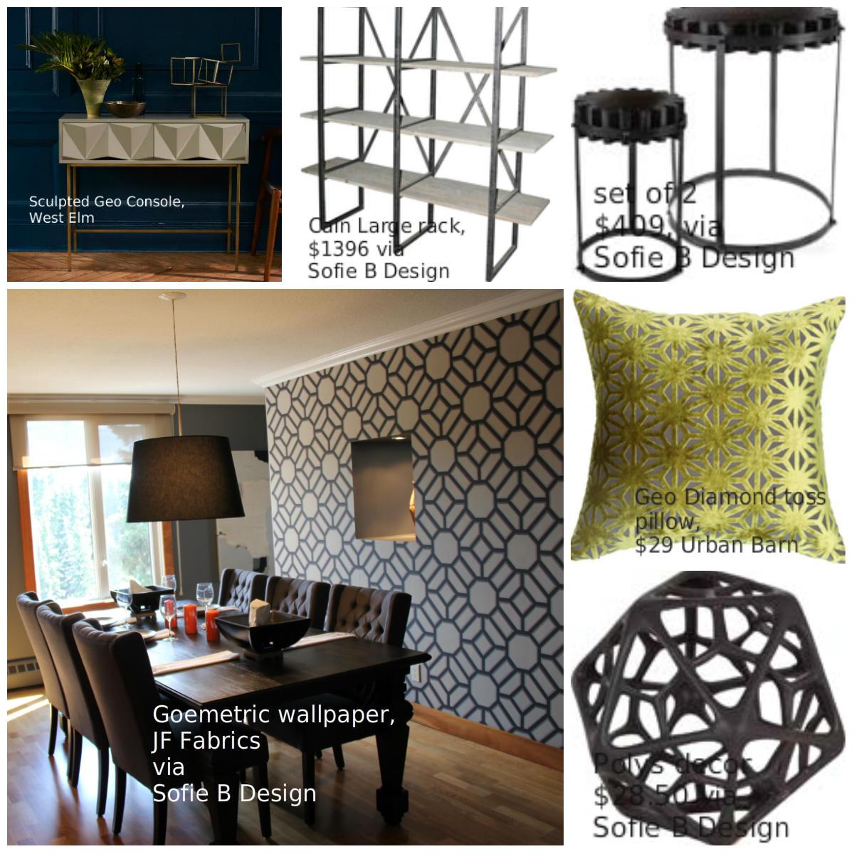 Geometric design pieces