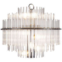 Gaetano Sciolari glass rod chandelier 3450