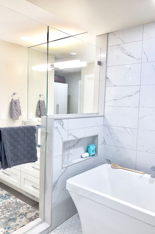 renovated bathroom red deer