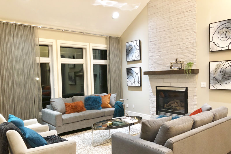 living room house renovation Spruce Drive