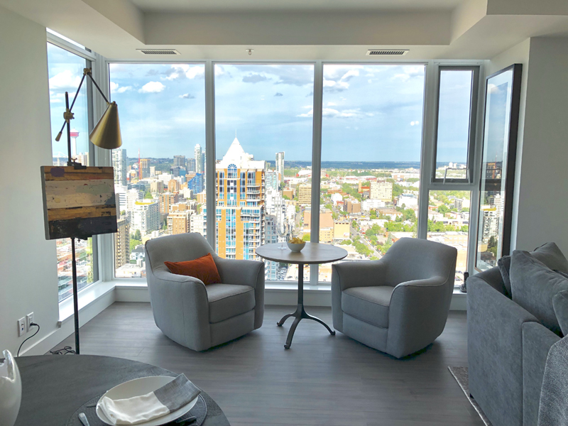 condominium with Calgary views