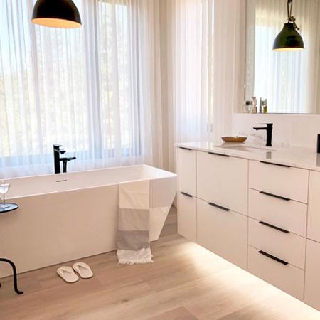 interior design project modern white bathroom