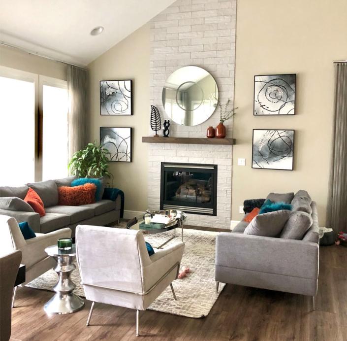 living room house renovation